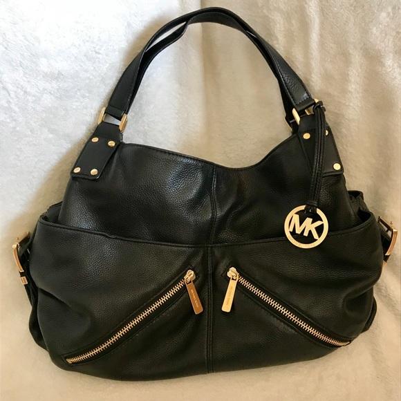2732f7cdbed2 Michael Kors Bags | Pebbled Black Leather Hobo Bag | Poshmark